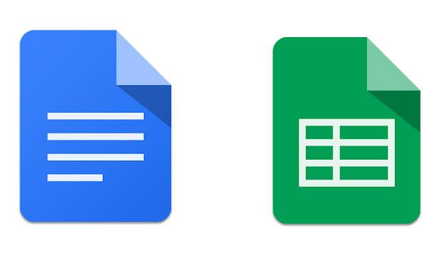 Google aggiorna le applicazioni Documenti Fogli e Presentazioni.