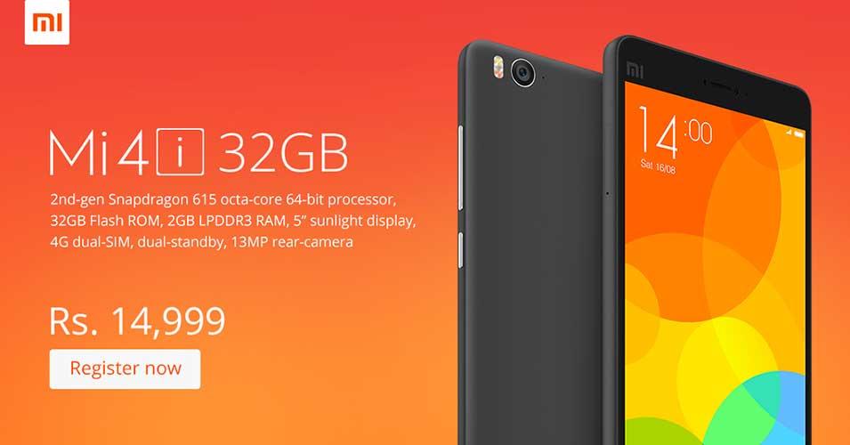 Xiaomi Mi 4i in versione da 32 GB