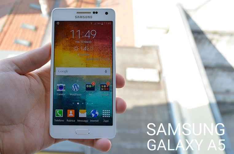 Samsung Galaxy A5 si aggiorna a Lollipop